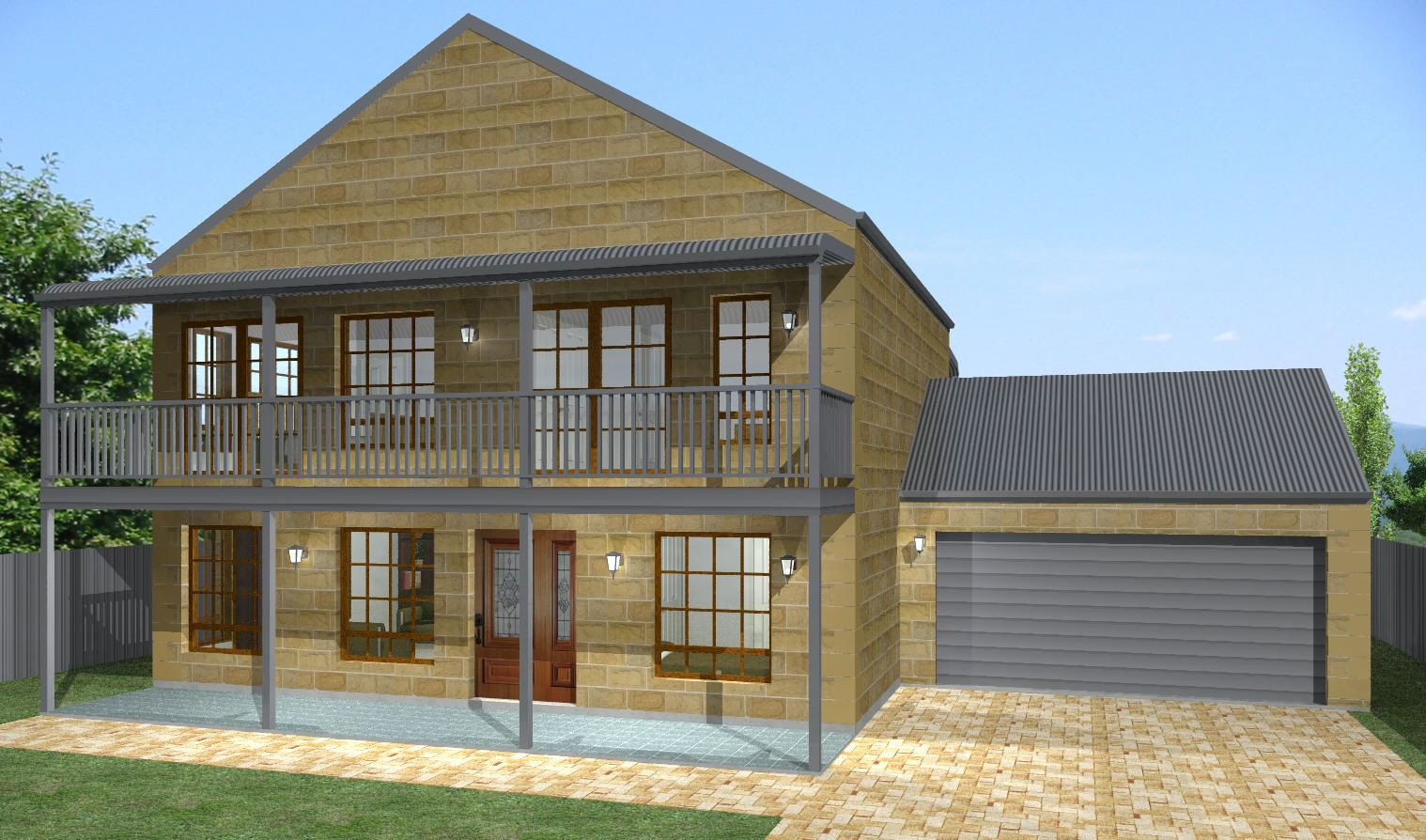 Stone kit home designs the wattle visit www for Home designs victoria