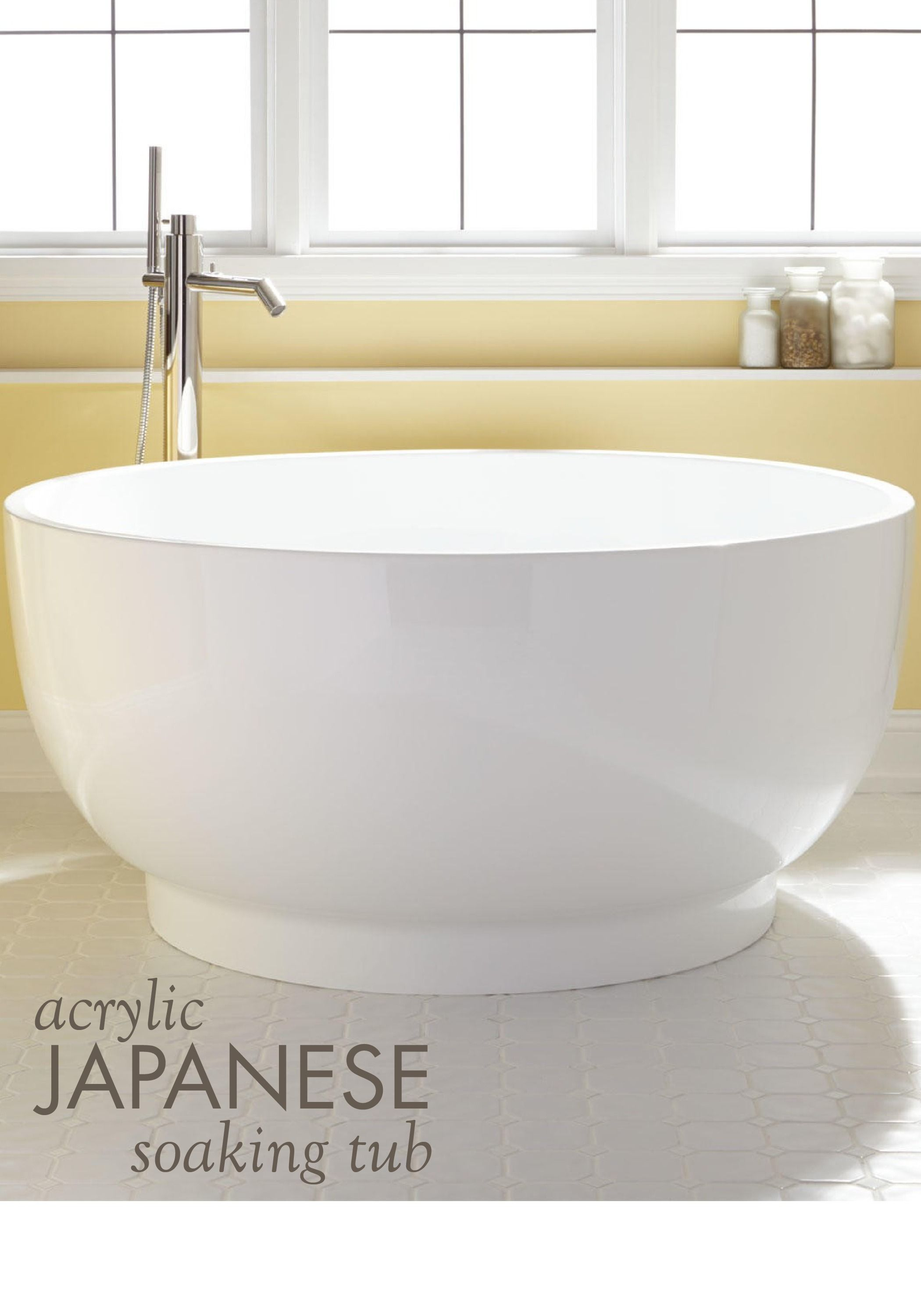 51 kaimu acrylic japanese soaking tub japanese soaking for Acrylic soaker tub
