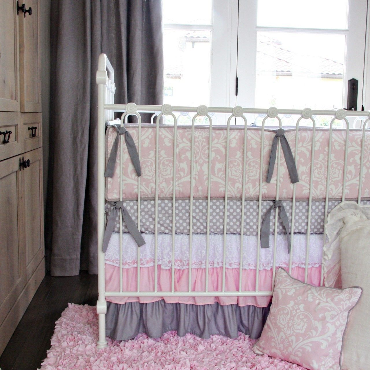 Gray Pink Nursery Bedding Google Search