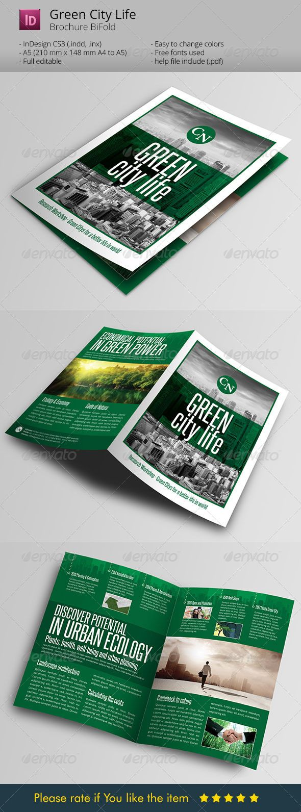 Green City Life Brochure Indesign Template