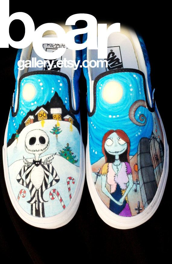 Custom Shoes Nightmare Before Christmas by beargallery on Etsy