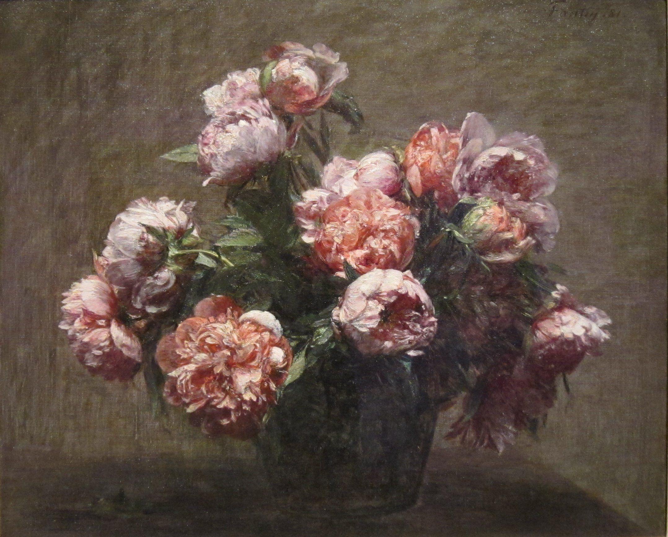 Henri Fantin Latour Art Floral Pivoine