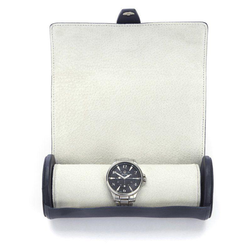 Royce Luxury Travel Watch Storage - 8W x 3.25H in. Blue