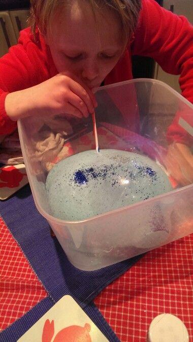 Home Made Slime Mix Pva Glue With Aldi Almat Liquid Laundry
