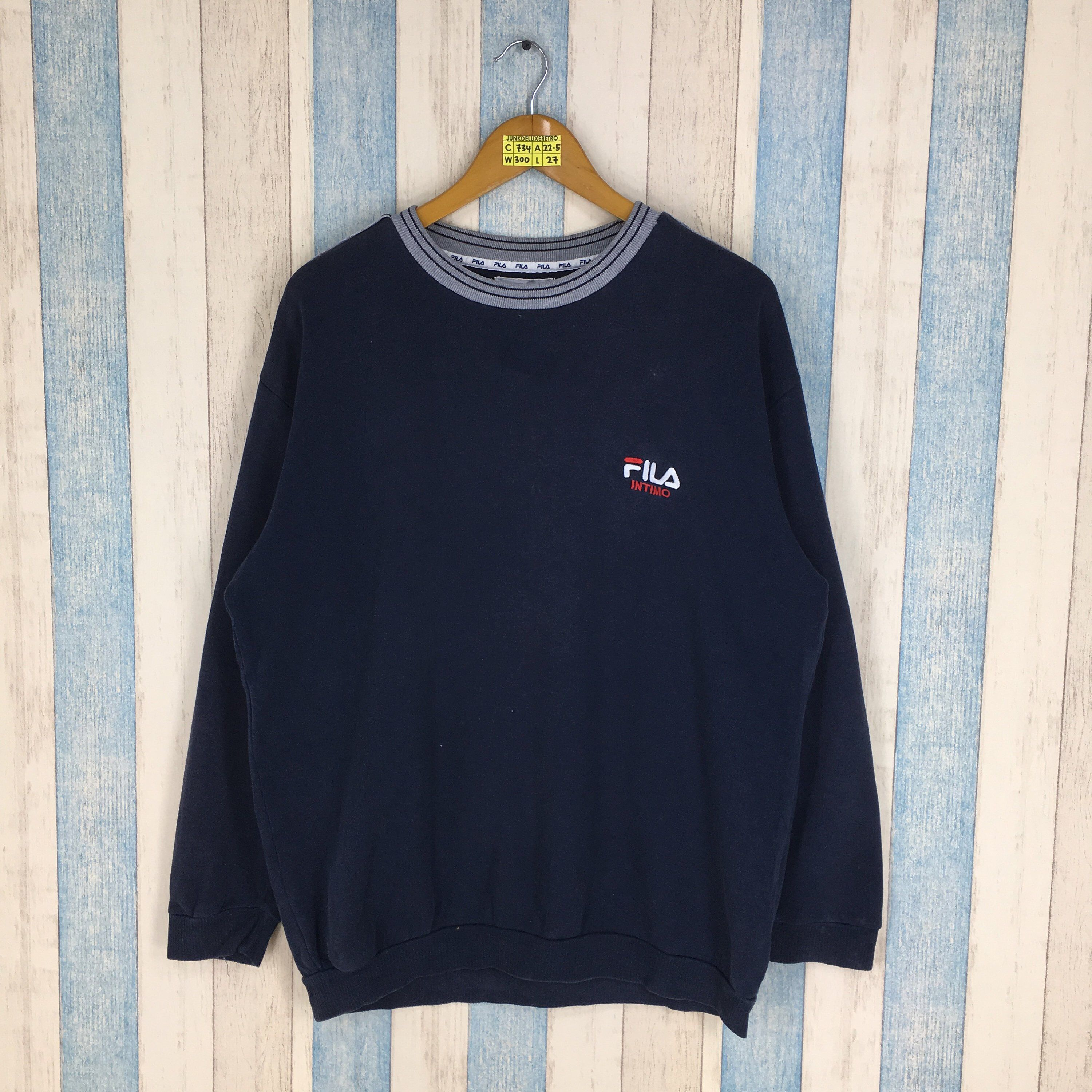094e945a74 Excited to share the latest addition to my #etsy shop: FILA Intimo 90's  Sweater Large Vintage Fila Biella Italia Blue Jumper Sportswear Casual  Pullover ...