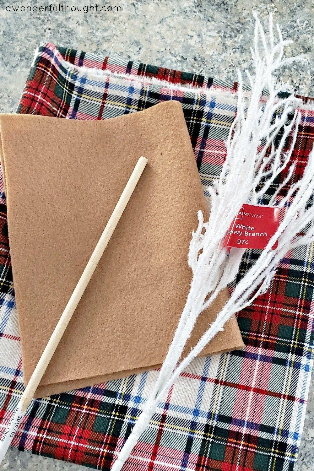 DIY Plaid Fabric Reindeer - A Wonderful Thought