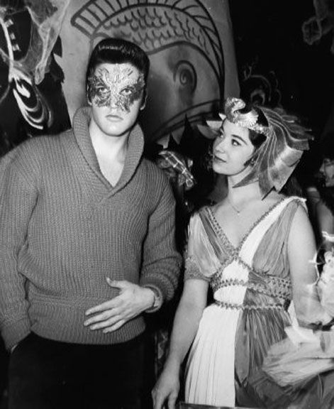 Elvis at a Halloween party in Hollywood in october 31  1957.