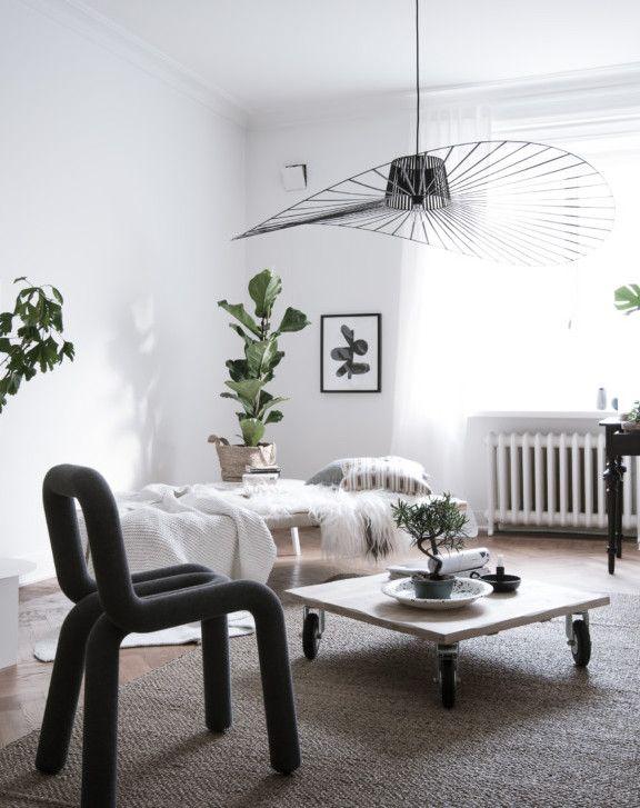 Plants as decoration - via Coco Lapine Design Living Room