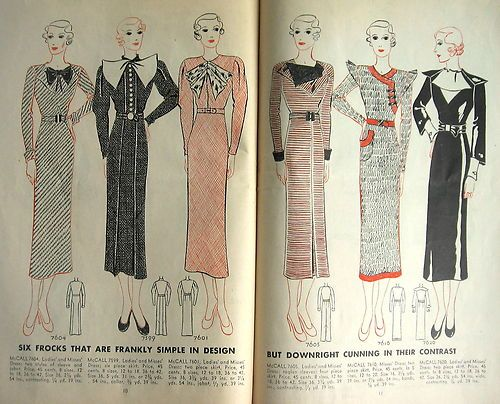 1933 McCall Sewing Pattern Catalog | 1930s McCall Sewing Patterns ...