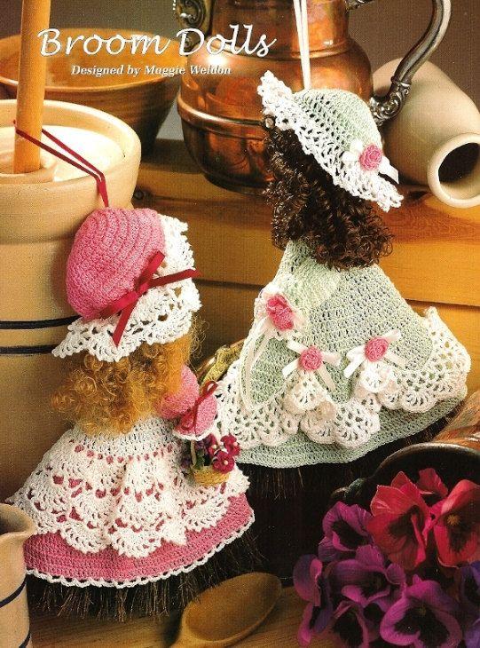 Broom Dolls | applicazioni bambole all\'uncinetto | Pinterest ...