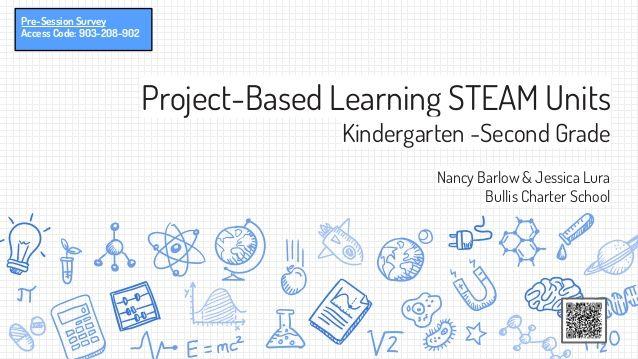 Project-Based Learning STEAM Units Kindergarten -Second Grade Nancy Barlow & Jessica Lura Bullis Charter School Pre-Sessio...