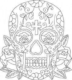 mindful colouring sugar skull - Google Search | Stuff to print ...