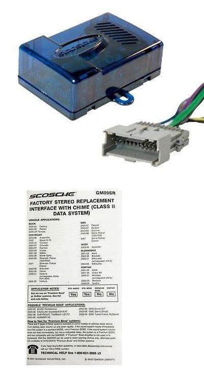 wire harnesses scosche gm09sr radio replacement interface w door wire harnesses scosche gm09sr radio replacement interface w door chime for select 2000