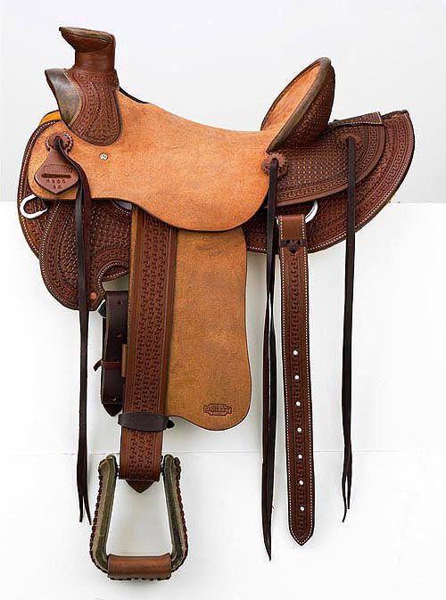 Handmade Western Saddles | Two Tone Wade Tree Saddle with