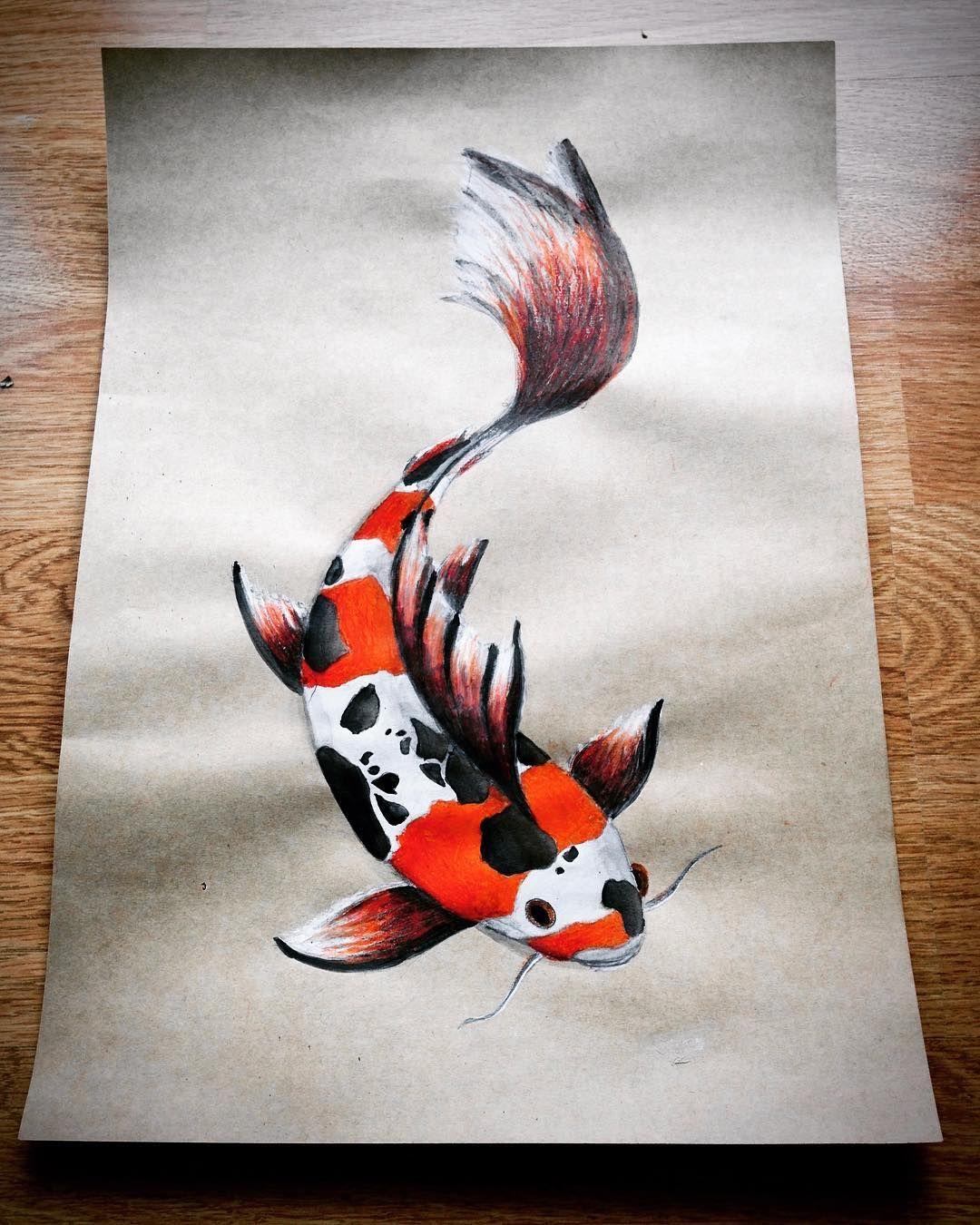 Pin By Arminda Dudumi On Art Drawing Koi Fish Japanese Koi Fish Drawings