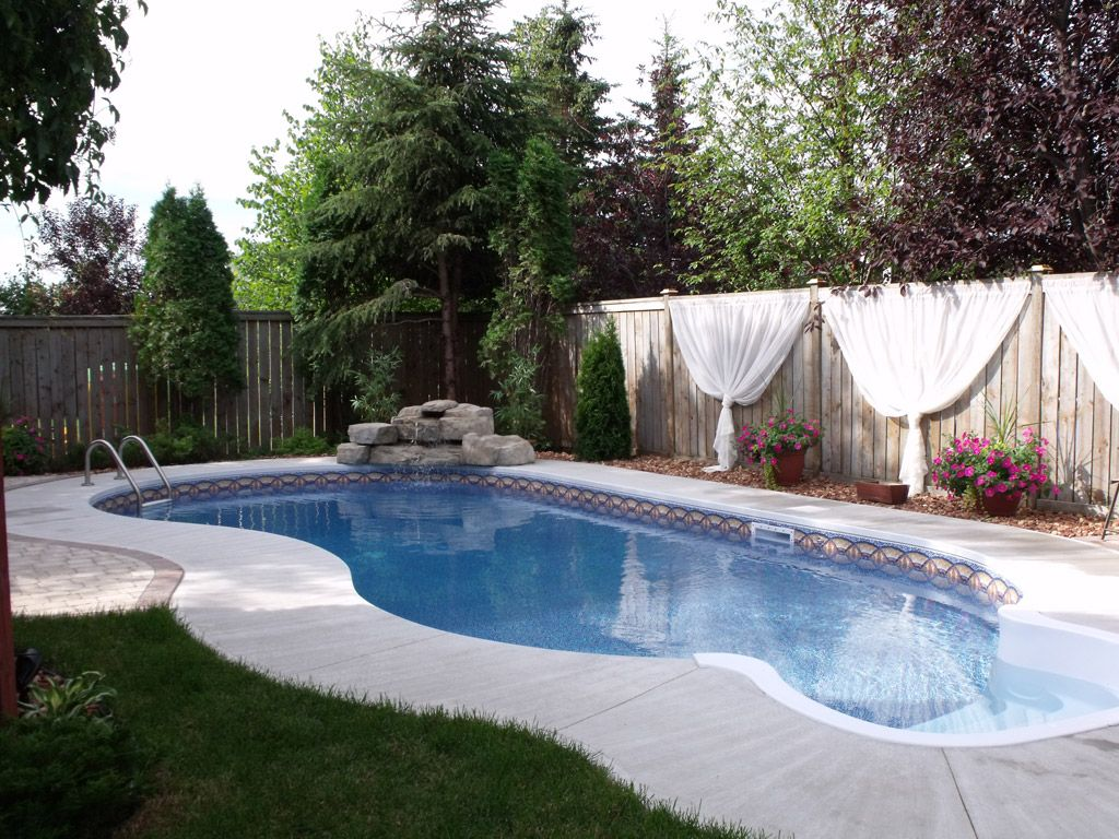 the flatback kidney pool is idea for smaller yards that require a
