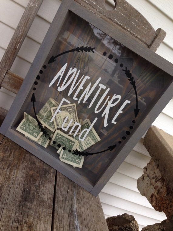 Adventure Fund Shadow Box Newlywed Gift Mr By Britterfaecollection