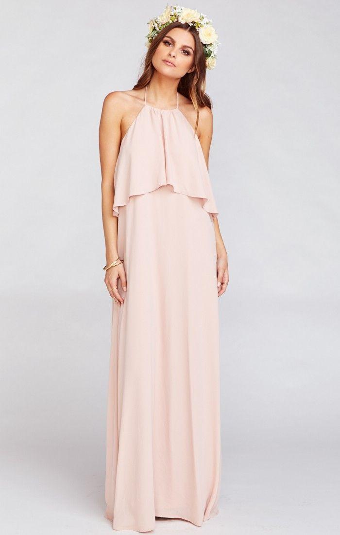 a15747f1ff4ea Aimee Ruffle Maxi Dress ~ Dusty Blush Crisp | For the Future... in ...