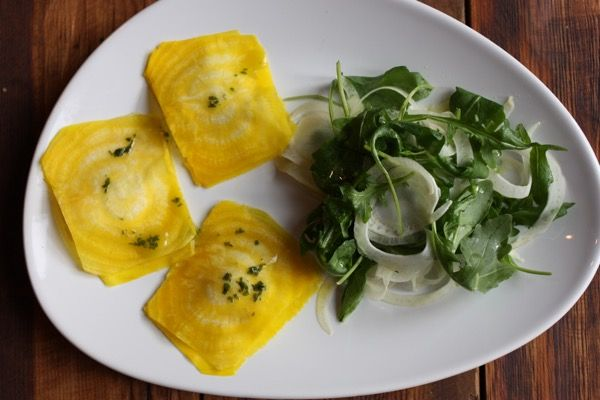 Golden Beet Ravioli With Pine Nut Cheese Recipe With Images