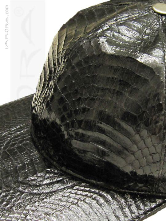 Cobra Snakeskin Hat Baseball Cap. Genuine Snake skin leather