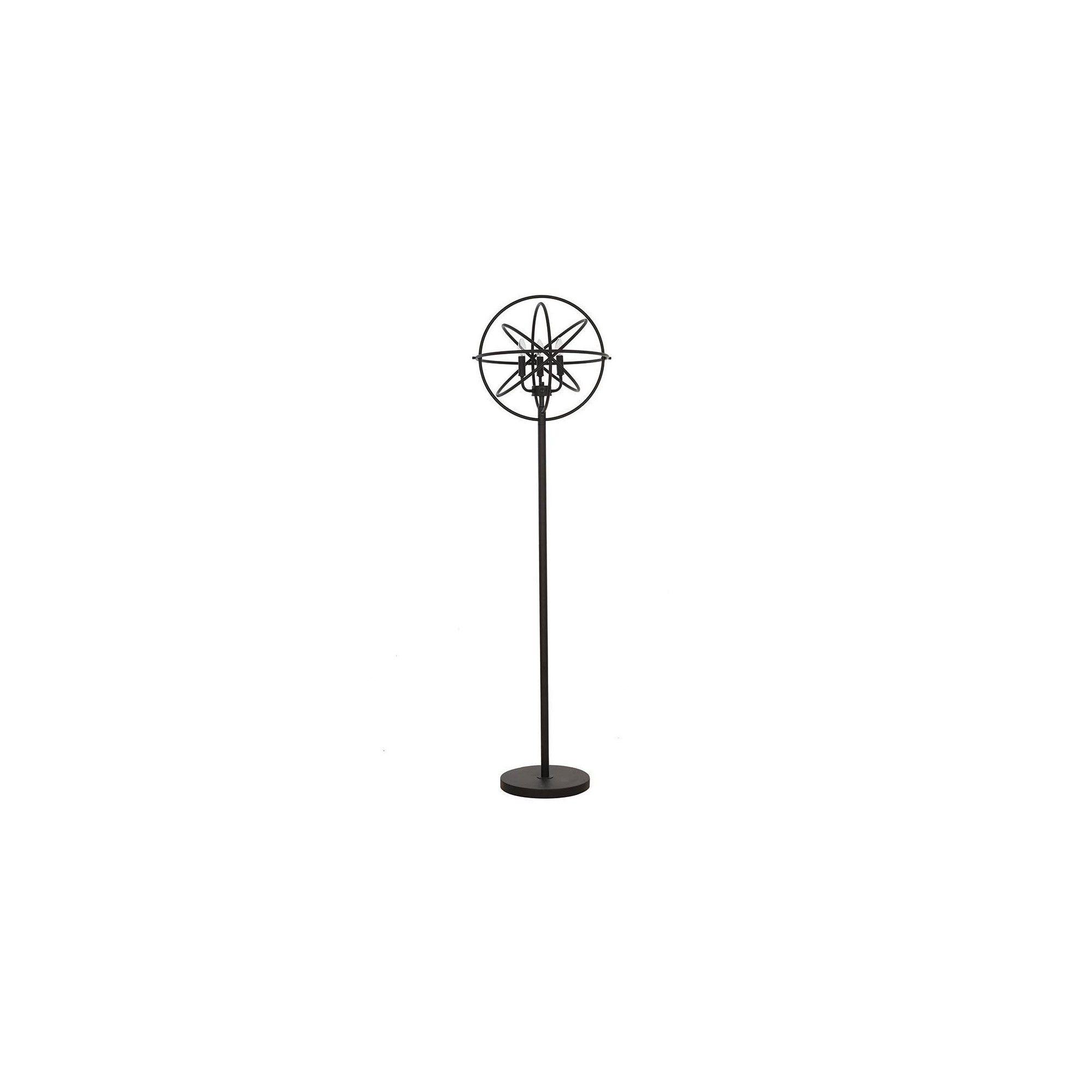 led floor lamps black glass beads