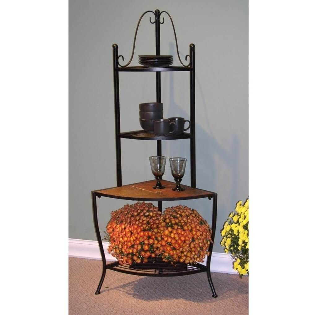 Delicieux 2019 Wrought Iron Corner Cabinet   Kitchen Shelf Display Ideas Check More  At Http:/