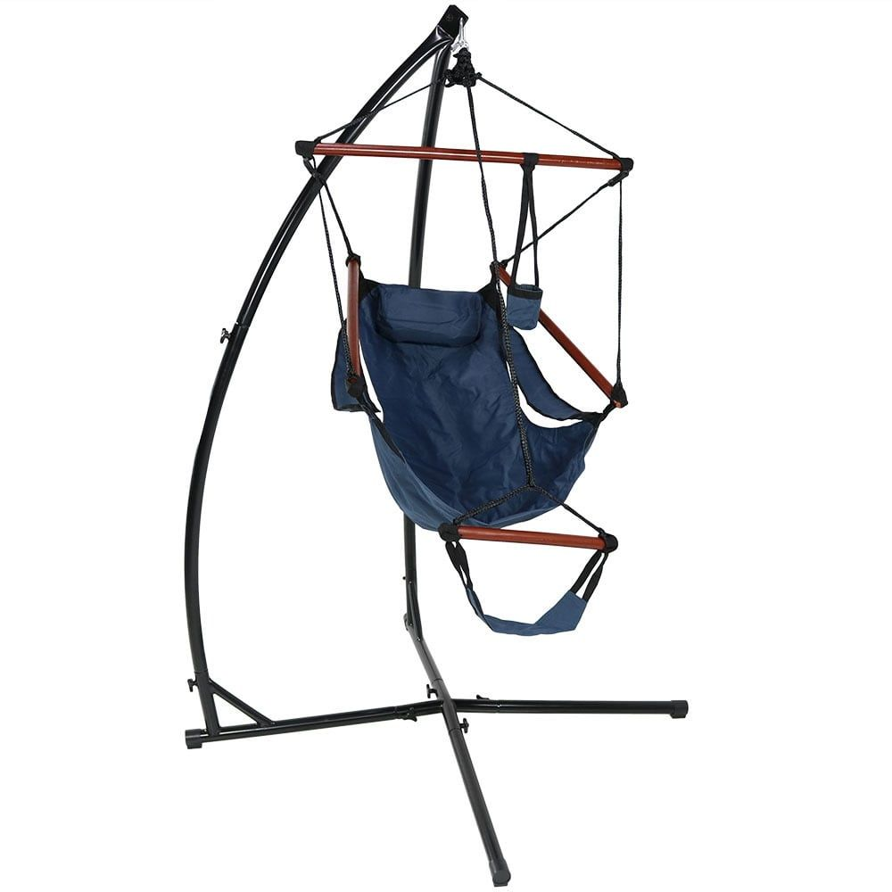Sunnydaze durable xstand and hanging hammock chair set or xchair