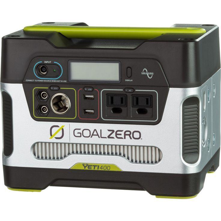 Goal Zero Yeti 400 Solar Generator Kit Solar Generator Best Solar Panels Solar Power Diy