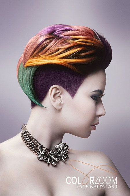 20 short hair color ideas regenbogenfarben bunte haare und haarstyling. Black Bedroom Furniture Sets. Home Design Ideas