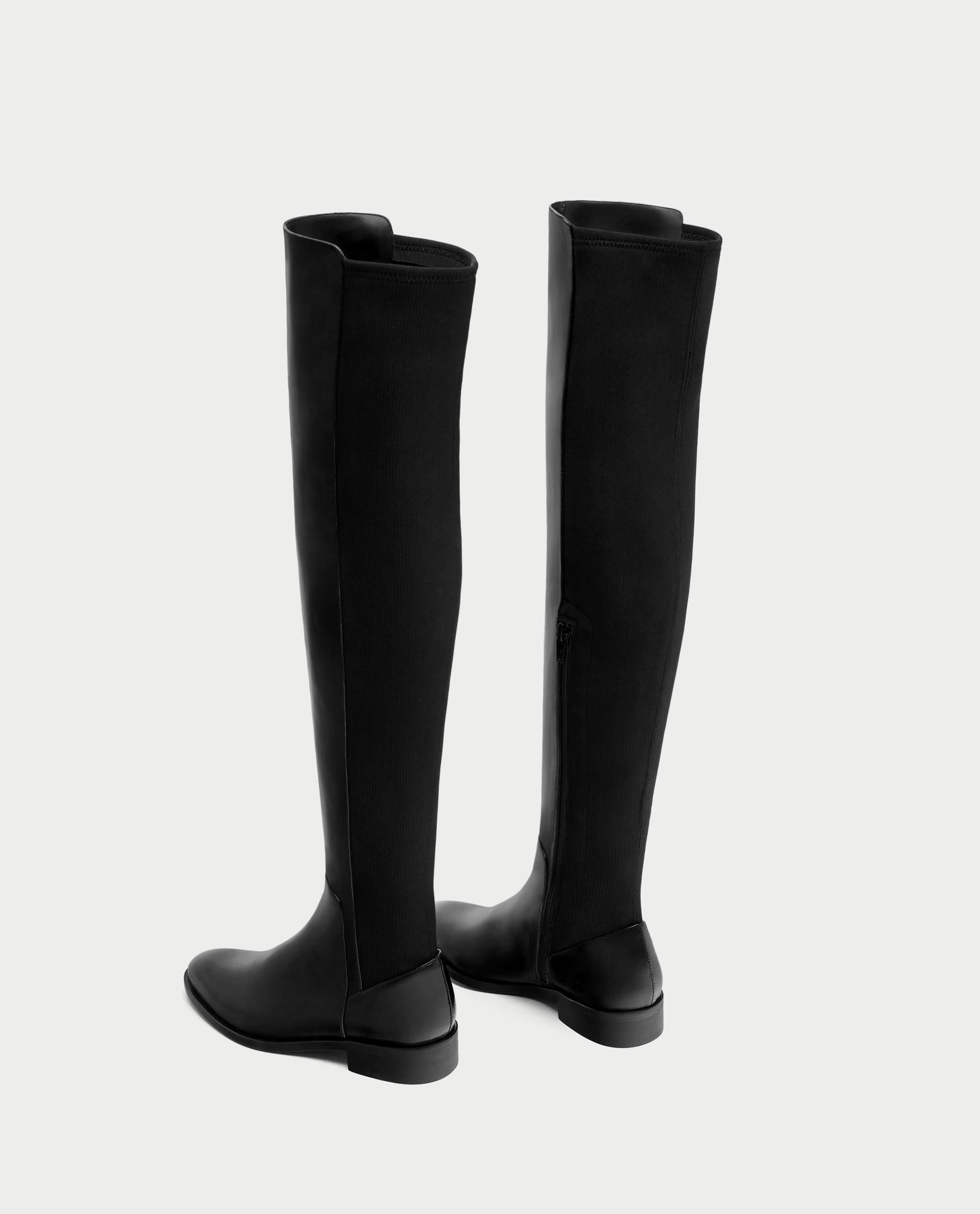 Flat Leather Over-The-Knee Boots // 159