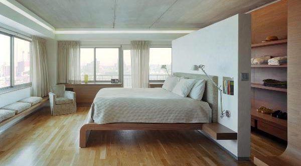 Wohnideen Schlafzimmer - den Platz hinterm Bett verwerten