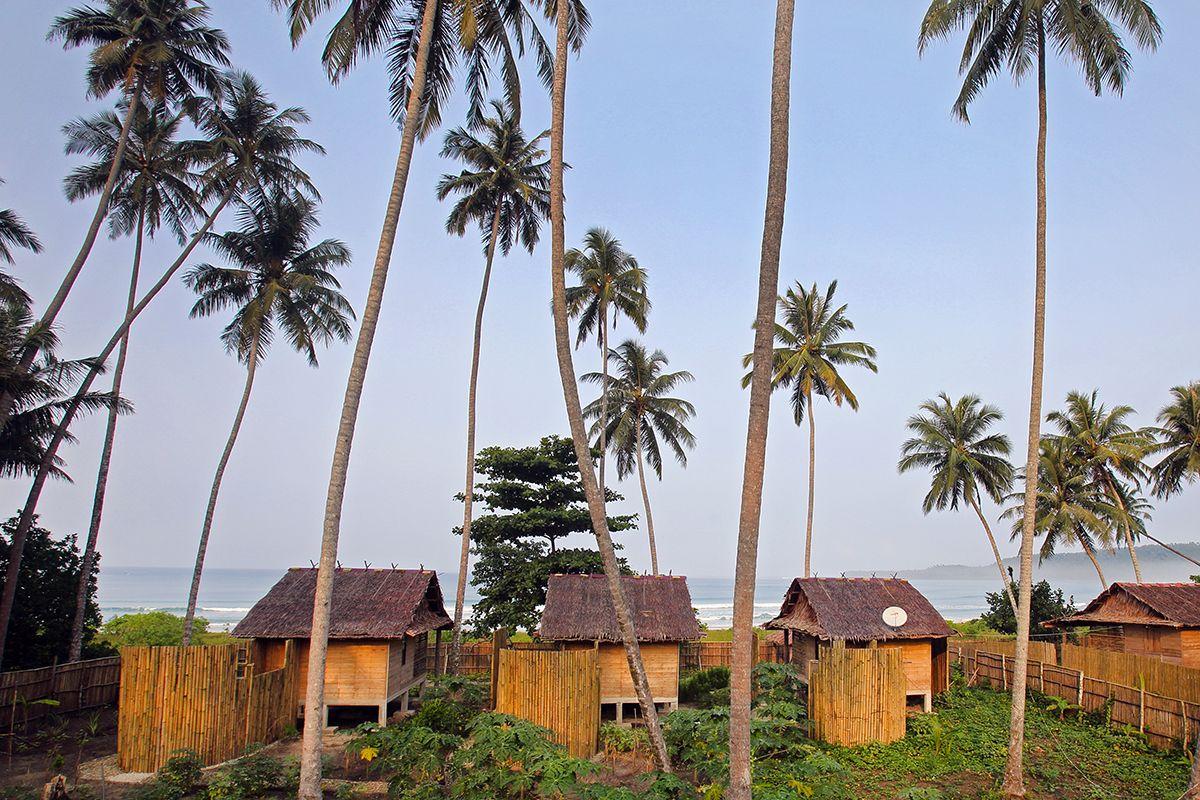 Afulu Retreat On Walo Beach Northwest Nias Island Indonesia Photo By Bjorn Svensson Www Visitniasisland Com Island Paradise Island Beach Bungalows