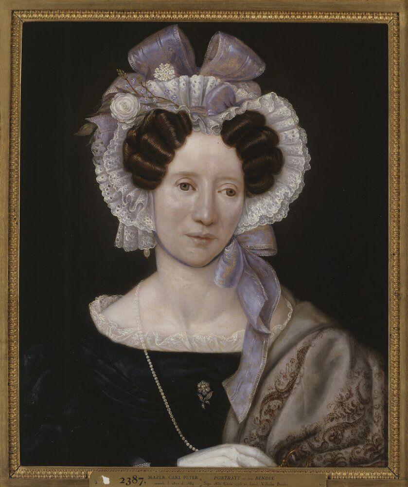 Beata Bendix, née van Reis | Carl Peter Mazer | 1836 | Nationalmuseum, Sweden | Public Domain Marked