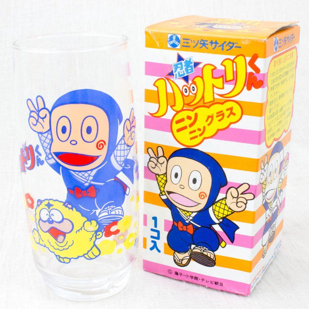 Retro RARE! Ninja Hattori kun Glass Fujiko Fujio JAPAN ANIME MANGA