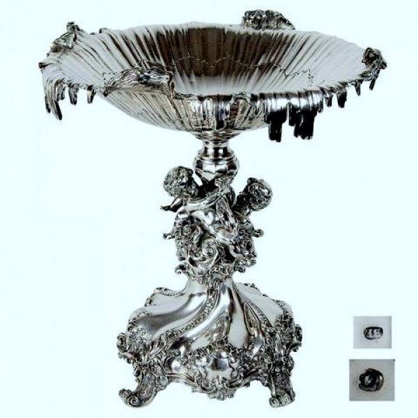 Centro de mesa em prata