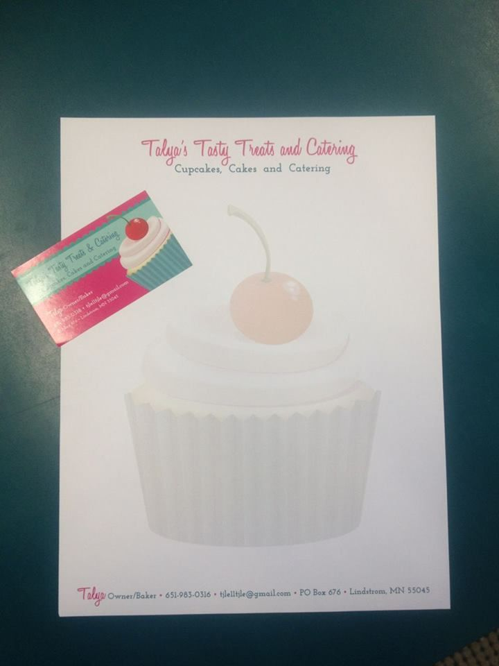 mmmm cupcakes! Letterhead and business card/stickers for a fantastic cupcake client!
