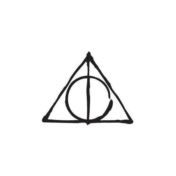 Deathly Hallows Symbol Harry Potter Hp Decal Sticker 249