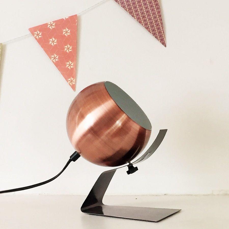 Mobilier À Salon CuivreDéco Lampe De Poser Boule Klc1JF