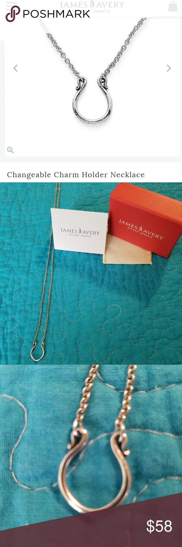 James Avery Changeable Charm Holder Necklace   Charm holder ...