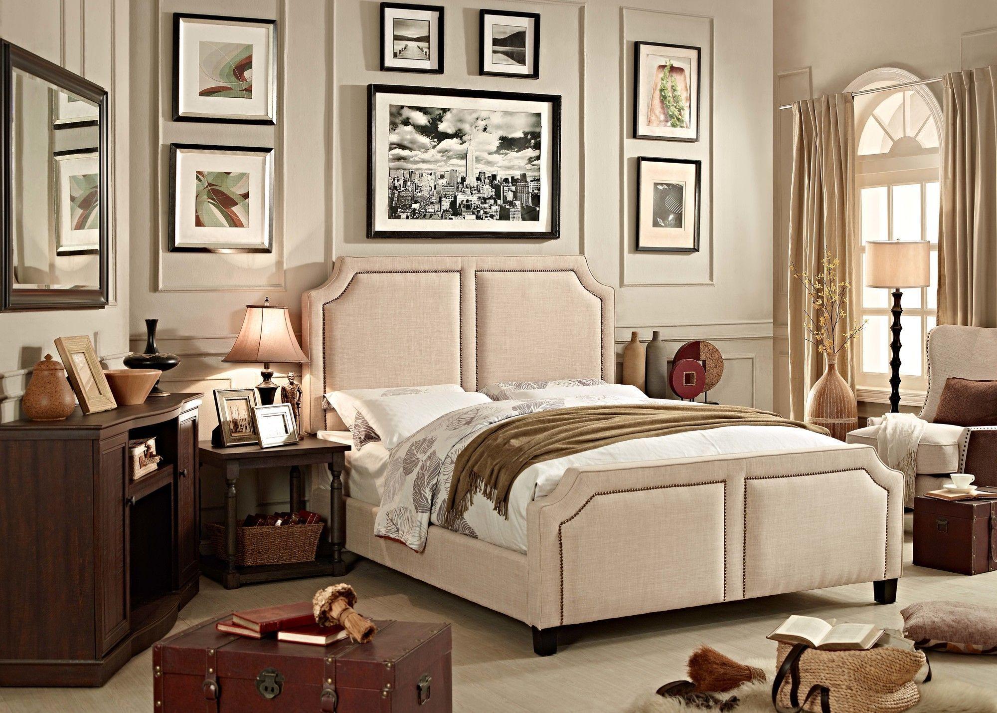 Sanibel Upholstered Panel Bed