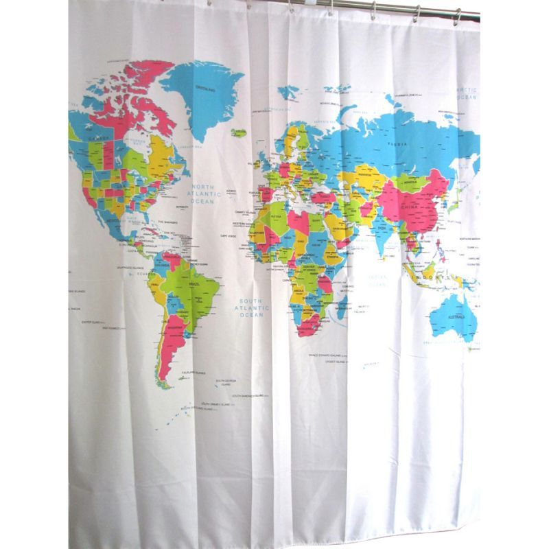 88 how to remove mildew from polyester shower curtain liner world world map showers waterproof anti mildew polyester bath curtain shower curtains home bathroom decorative with hooks gumiabroncs Images