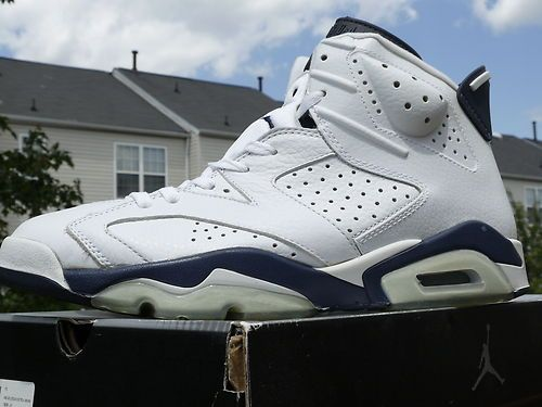 35482c50cfd RARE 2000 Nike AIR JORDAN VI 6 Midnight Navy size 10.5 Brand New v vii  olympic