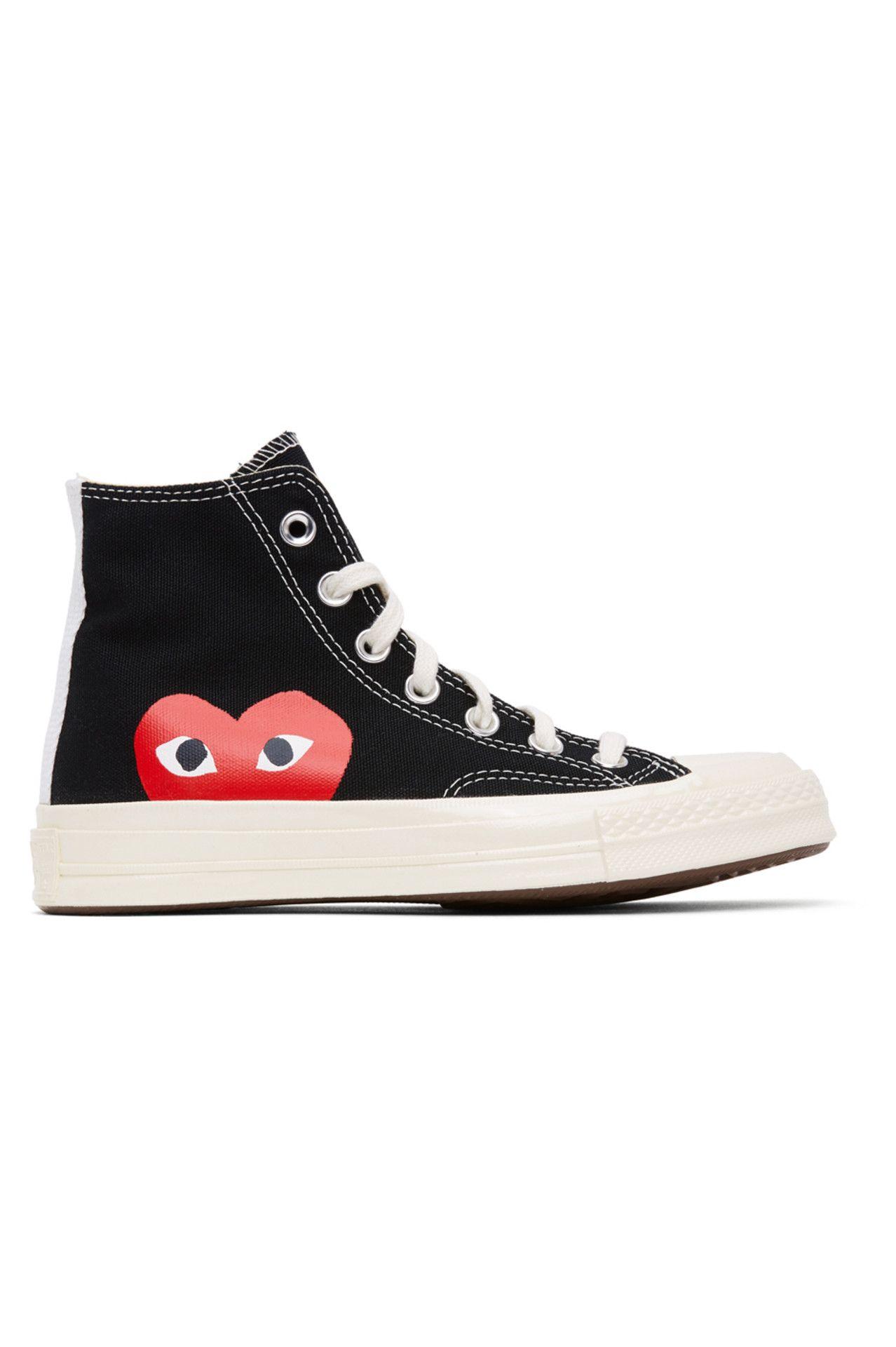 Black Converse Edition Half Heart Chuck