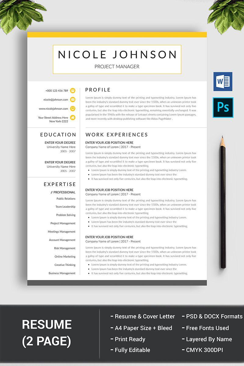 Nicole Johnson Resume Template 78381 Resume template