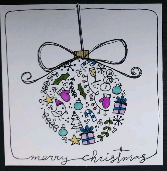 Easy Christmas Cards for Kids to Make on a Budget – Ball Ornaments #christmascardskids