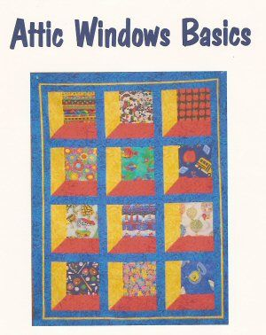 Attic Windows Quilt - Free Quilt Pattern - Attic Window Quilt ... : free attic window quilt pattern - Adamdwight.com