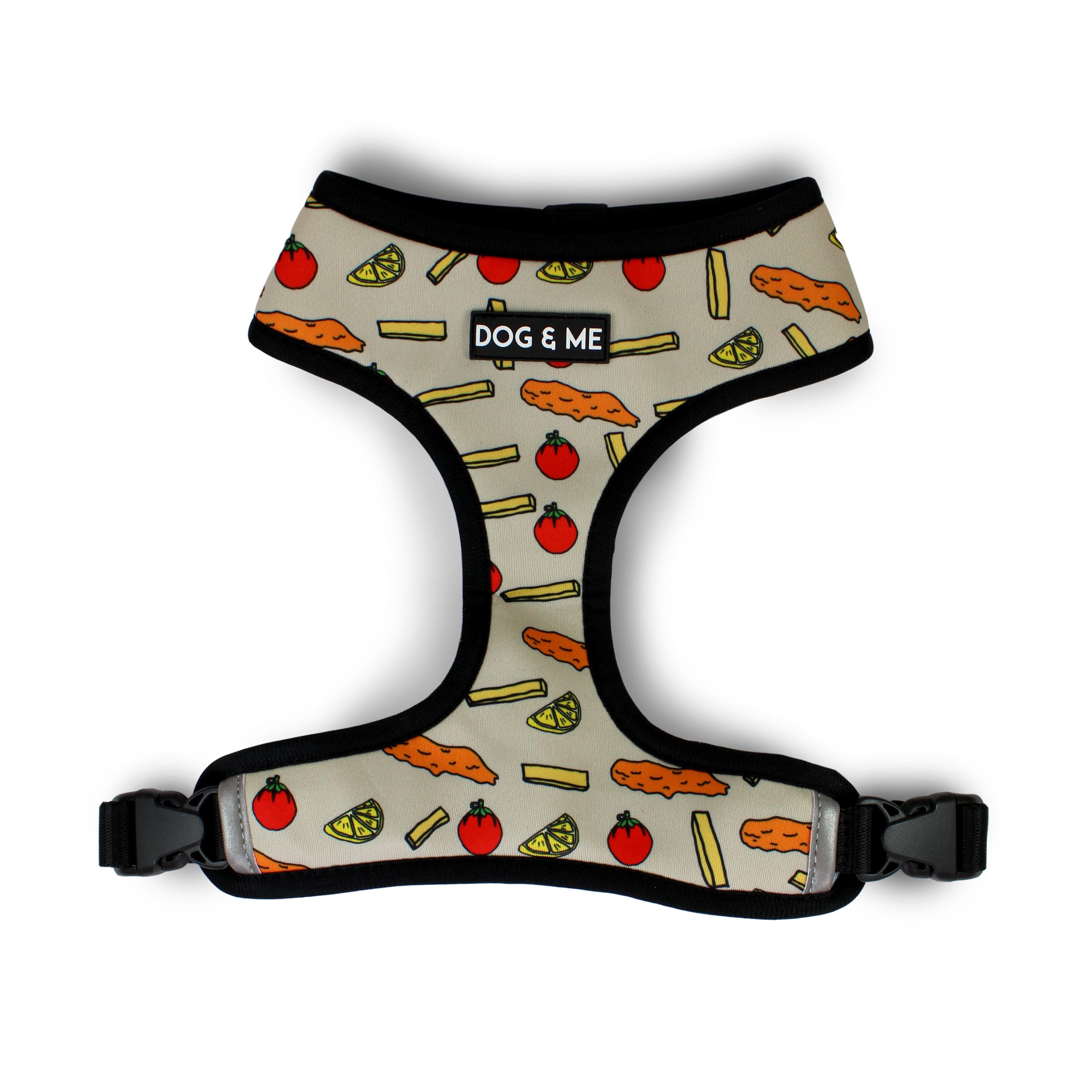 Duo reversible comfort harness fishy chips eggs n