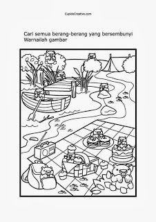 Permainan Anak Balitatk Mencari Dan Mewarnai Gambar Berang Berang