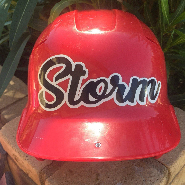 Helmet Decal Name, Baseball, Softball, Tball, Customize ...
