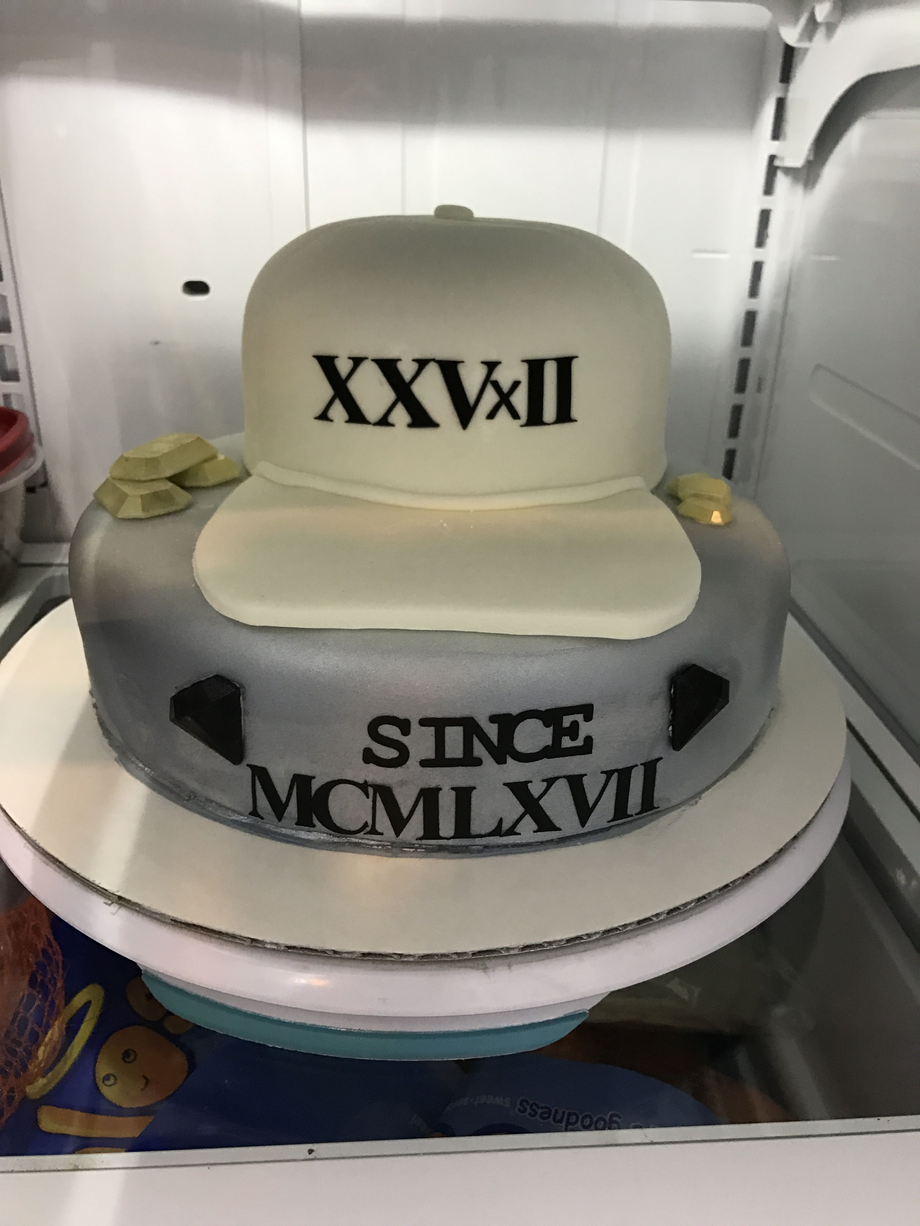 Grad cap replace? Bruno Mars theme birthday cake. Hat cake. From the ...